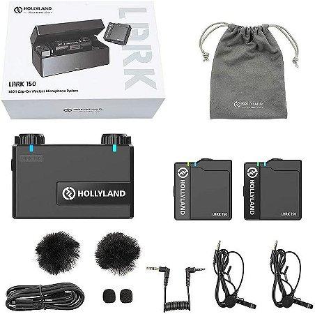 Microfone Wireless Hollyland Lark 150 Dual 2.4 Ghz