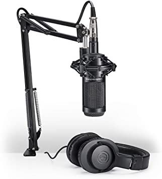 Kit Streaming Audio-technica At2035pk+mic Xlr+fone+aranha