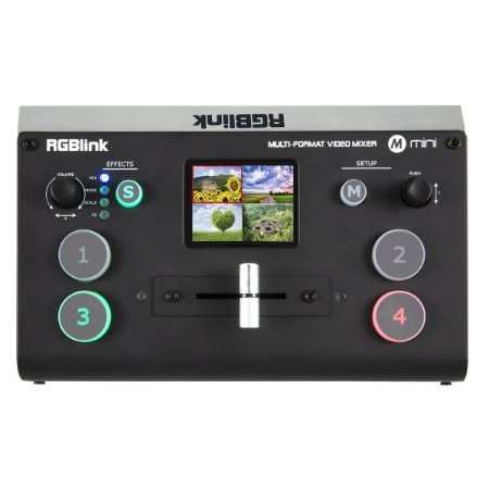 Mesa De Corte Switcher Streaming Rgblink Mini + Multiview