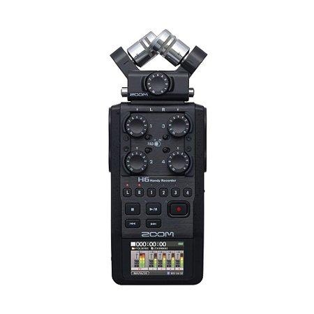 Gravador Digital Zoom H6 Modelo All Black