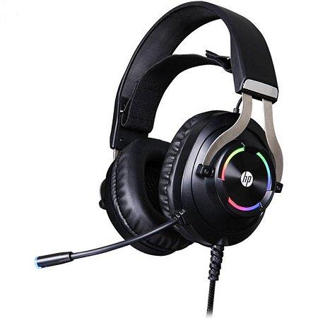 FONE HEADSET GAMER P2 STEREO E USB H360 PRETO COM RGB