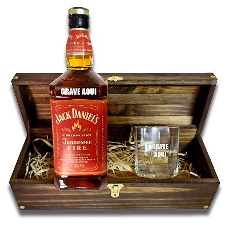 Kit Whisky Personalizado - Jack Daniels Fire