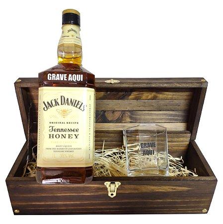 Kit Whisky Personalizado - Jack Daniels Honey