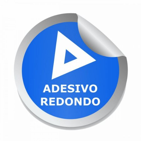Adesivo Redondo 30x30mm