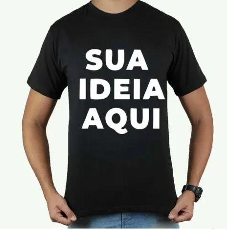 Camiseta personalizada Preta