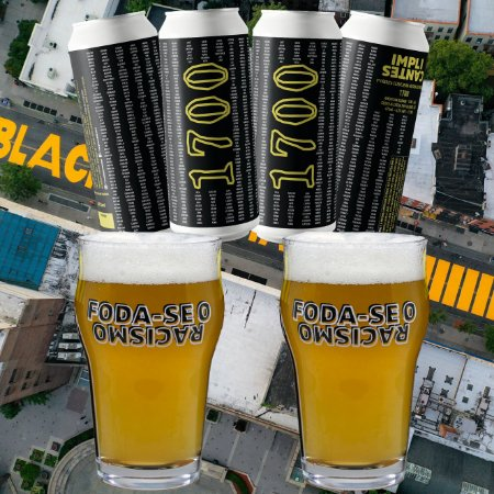 [8 latões] 1700 Blonde Ale e 2 Copos Pint