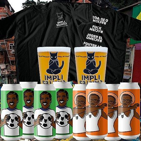 [8 latões] Refrescantes, Copos e Camiseta F* o Racismo