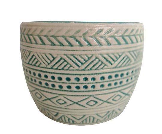 Cachepô De Cerâmica Indiano - Monte Real