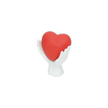 Luminária Com Led - Coração e Mão De Cerâmica - Urban