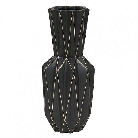 Vaso Em Cerâmica Com Estampa Geométrica - BTC