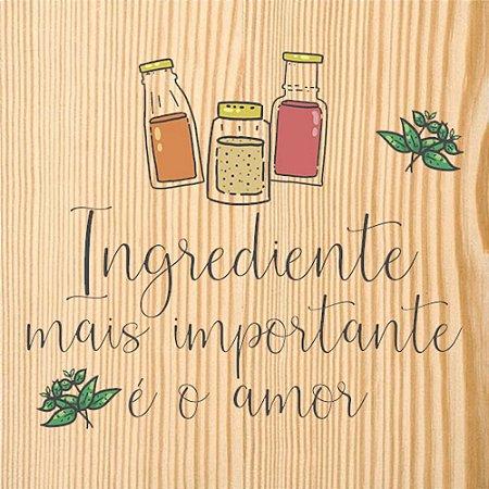 Quadro Para Cozinha Ingrediente Amor - Quadrum & Art