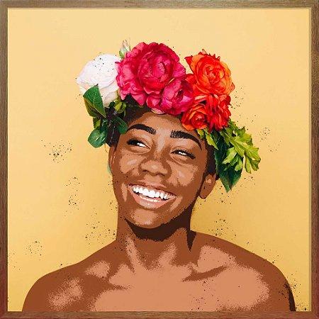 Quadro Mulher Sorrindo - Quadrum & Art
