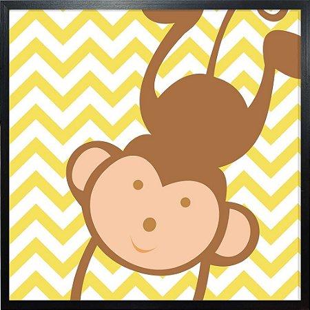 Quadro Infantil Macaco - Quadrum & Art