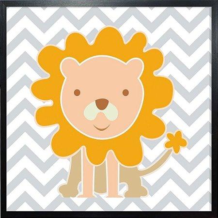 Quadro Infantil Leão - Quadrum & Art