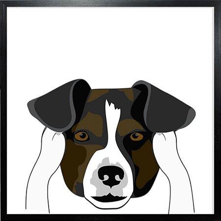 Quadro Cachorro Não Ouve - Quadrum & Art
