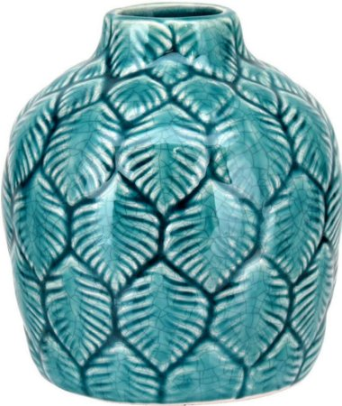Vaso Cerâmica Azul Médio - GS
