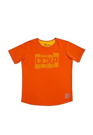 Camiseta CCXP Blocks Laranja