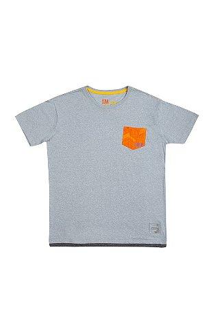Camiseta CCXP Pocket Laranja Masculina