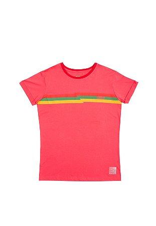 Camiseta Color Stripes Rosa