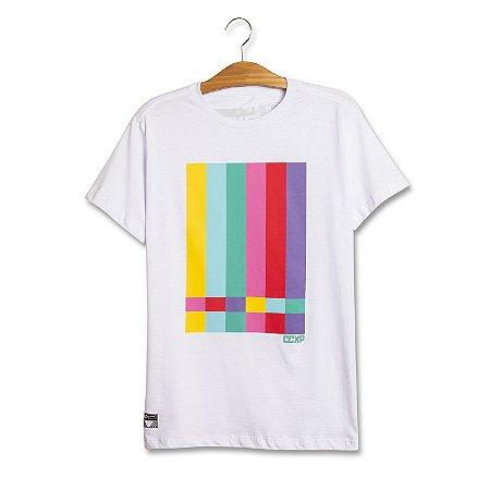 Camiseta TV Stripes Branca