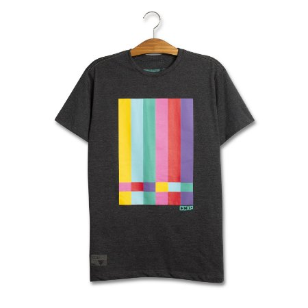 Camiseta TV Stripes Chumbo