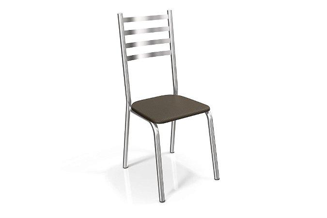 Par de Cadeiras Alemanha Cromado - Marrom