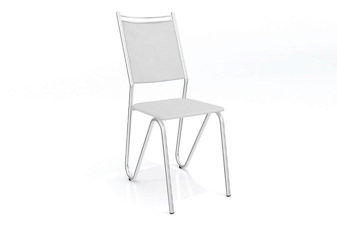 Par de Cadeiras Londres Cromado - Branco