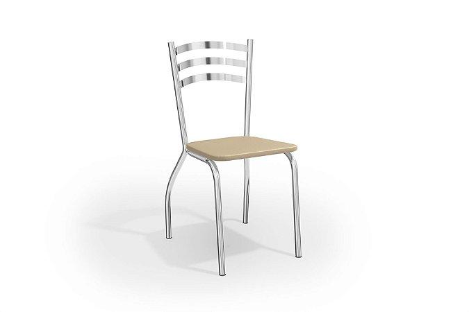 Par de Cadeiras Portugal Cromado - Nude