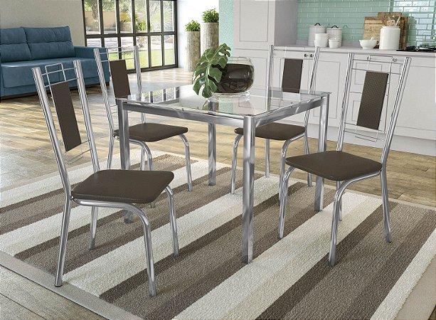 Conjunto de Mesa Reno 04 Cadeiras Florença - CR21