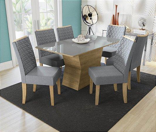 Conjunto de Mesa Tília 6 Cadeiras