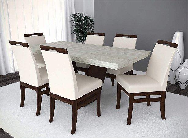 Conjunto de Mesa Itália 06 Cadeiras Lisboa