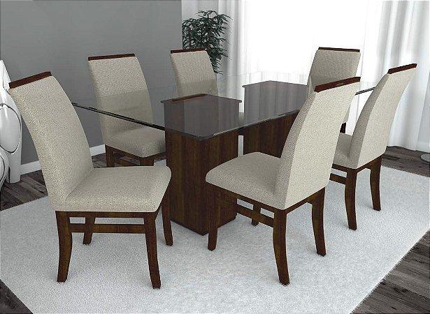 Conjunto de Mesa Milão e 06 Cadeiras Milão