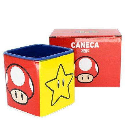 Caneca Cubo 300ml ícones Mario