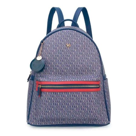 Bolsa mochila azul letras - Mickey Disney