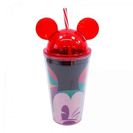 Copo canudo orelhas - Mickey Disney