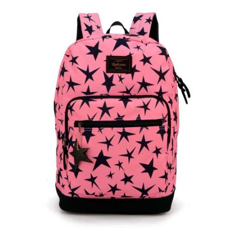Mochila rosa estrelas - Larissa Manoela