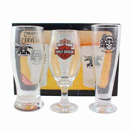 Conjunto de copos de cerveja - Harley-Davidson