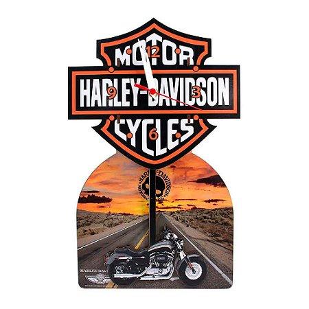 Relógio com pêndulo - Harley Davidson
