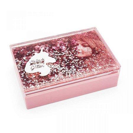 Caixa de fotos glitter - Unicórnio