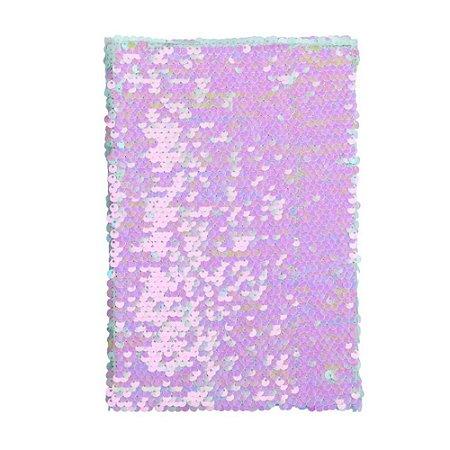 Caderno holográfico lantejoulas