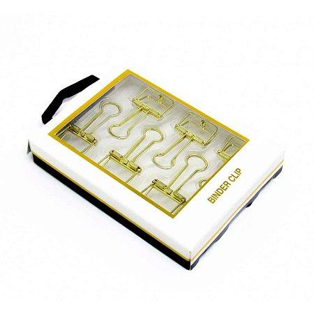Kit de Clips dourados