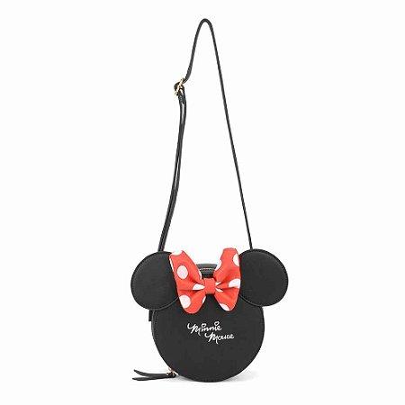 Bolsa transversal shape Laço - Minnie Disney