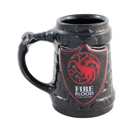 Caneco escudo Targaryen - Game of Thrones