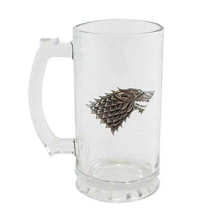 Caneco de vidro Stark - Game of Thrones