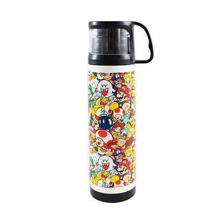 Garrafa térmica com caneca - Super Mario