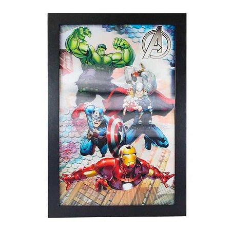 Quadro 3D Vingadores - Marvel
