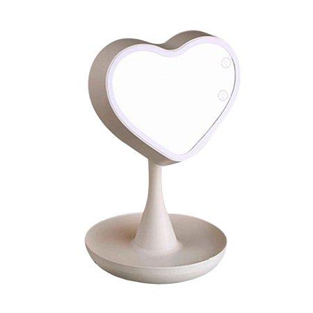 Espelho led para maquiagem - Coração