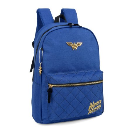 Mochila laptop azul - Mulher Maravilha