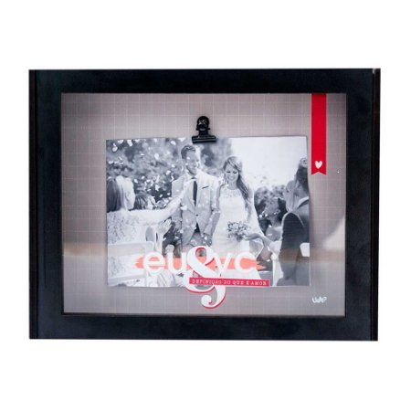 Caixa de lembrança porta retrato - Eu & Vc