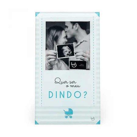 Porta Retrato Cartão Convite padrinho - Bebê